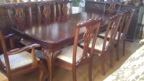 mahogany dining room table and 8 chairs chippendale style mahogany extending dining room table with 8 chairs for sale in santry dublin