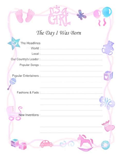 Baby Shower Scrapbook Pages by Free Printable Baby Book Scrapbook Pages 8 5 X 11 And