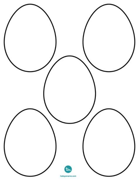 Free Easter Egg Coloring Pages Eggs Coloring Page