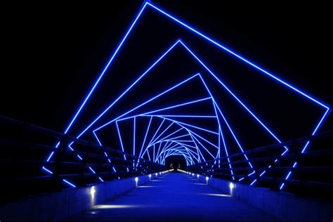 Ia Lighting by Iowa Footbridge Features Inspired Led Design Leds