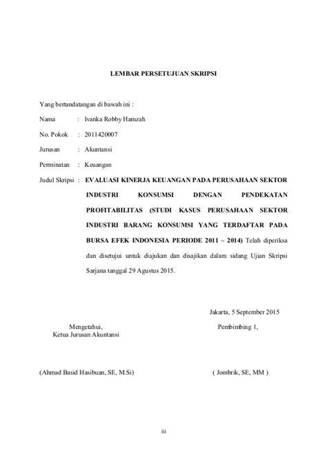 skripsi evaluasi akuntansi evaluasi kinerja keuangan pada perusahaan sektor industri