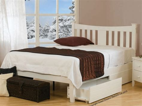 Sweet Dreams Kingfisher 4ft Small Double White Painted Small Bed Frames White