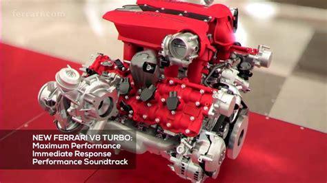 ferrari 488 engine 2016 ferrari 488 gtb v8 engine animation eng youtube