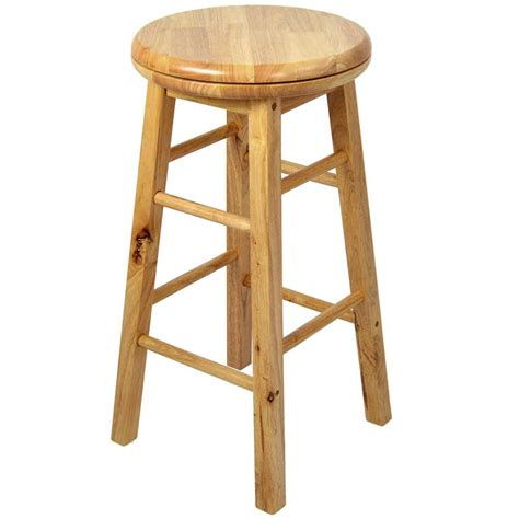 Stools Are Light Brown by Wooden Revolving Stool Light Brown Swivel Bar Pub Chair Kitchen Breakfast Seat