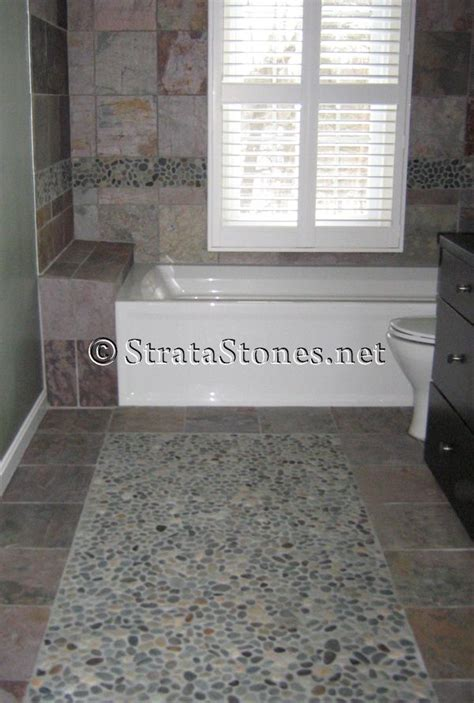 bathroom pebble tiles 17 best images about flooring on pebble tile