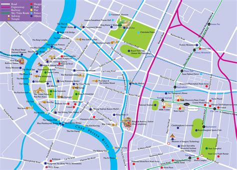 map of attractions in bangkok tourist attractions map