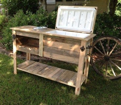 barn wood cooler console table ice chest sideboard buffet big green egg deck wood cooler