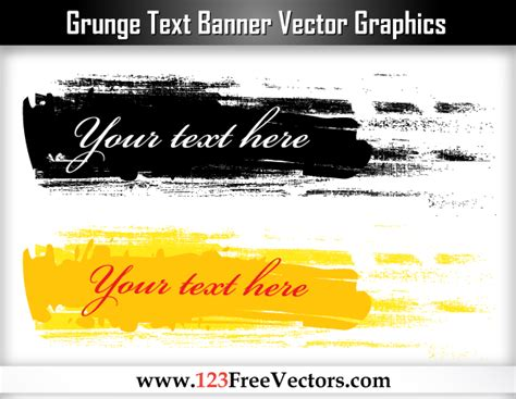 eps format graphics grunge text banner vector graphics by 123freevectors on