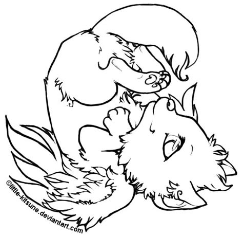 wolf puppies coloring pages little kitsune japanese word for fox foxes wolves