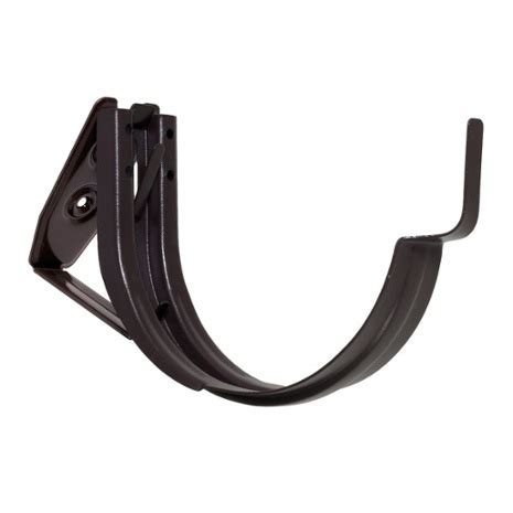 black gutter hooks zambelli 6 quot adjustable fascia mount gutter hangers for painted half gutter systems