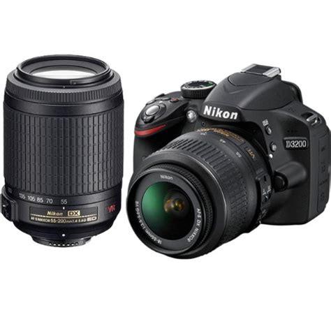 Nikon D3200 Vr Gt Black Friday Nikon D3200 Digital Slr 18 55mm G Vr Dx Af S 55 200mm Zoom Lens