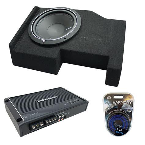 Speaker Box Gmc 2014 up gmc crew cab rockford p1s210 single 10 sub box r250x1 rock16 pack3058