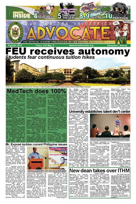 page layout features august issue 2012 by feu advocate issuu