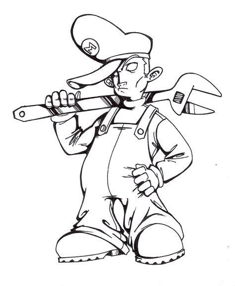 gangster mario coloring pages gangsta mario by riviztyle on deviantart