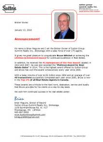 New Real Estate Announcement Letter by Announcement Congratulations Mississauga Real Estate Bruce Witchel