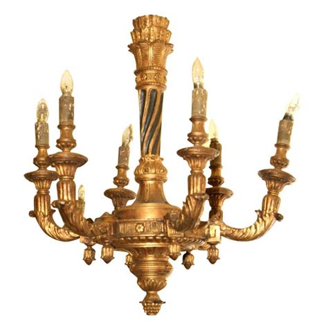 Antique Wooden Chandeliers 19th Century Italian Painted And Gilded Wooden Chandelier For Sale Antiques Classifieds
