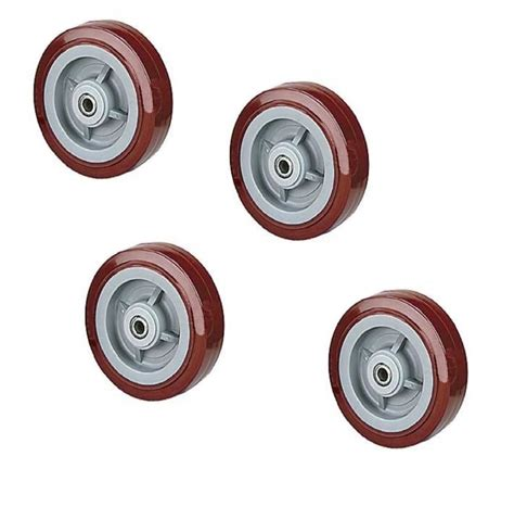 X Maroon 1 4 durable 8 quot x 2 quot polyurethane wheel with 1 2 quot id maroon