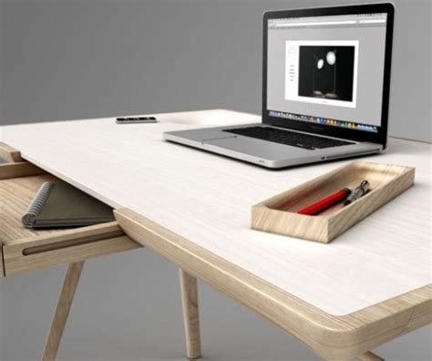designer desk sculptural maya desk with secret storage units digsdigs