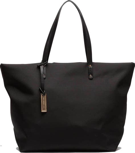 sac cabas porte epaule uni swana toile polyamide garnie cuir de vachette et sac 224 le