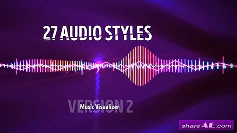 Audio Visualizer Music React 2 Ae Template Zone Ae After Effects Visualizer Template