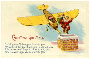 christmas airplane jokes cards vintage printable greetings