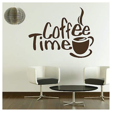 Wall Stiker Coffee Cafe Rumah Dekorasi Dinding Kopi Cutting Sticker Aliexpress Beli Waktu Cafe Wall Decals Mural Ruang