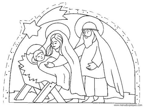 imagenes para colorear nacimiento de jesus pesebre con la sagrada familia siluetas blancas sobre un