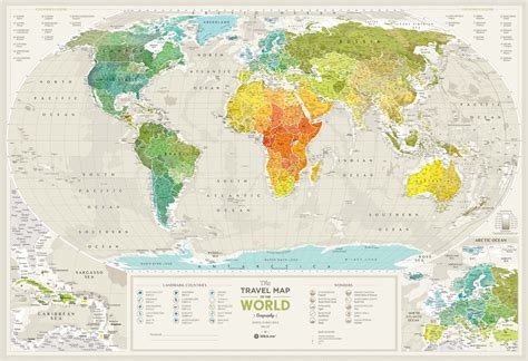 travel map geography worldbuy world geography map