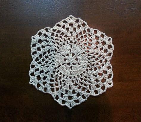 youtube doily pattern crochet beautiful mini doily pineapples pattern part 1