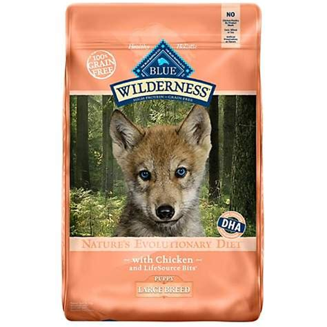 blue buffalo wilderness large breed puppy blue buffalo blue wilderness large breed puppy chicken recipe food petco