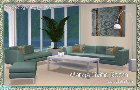 Vanilla Sim S Vs Manga Living Room Set Sims 2 Living Room Sets