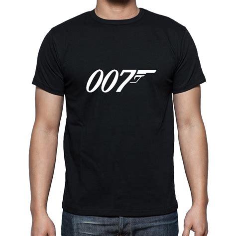 Tshirt Kaos Jamesbond 007 summer new brand quality bond 007 t shirts sleeve o neck fashion cotton