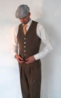 1930s mens clothing handmade vest vintage style