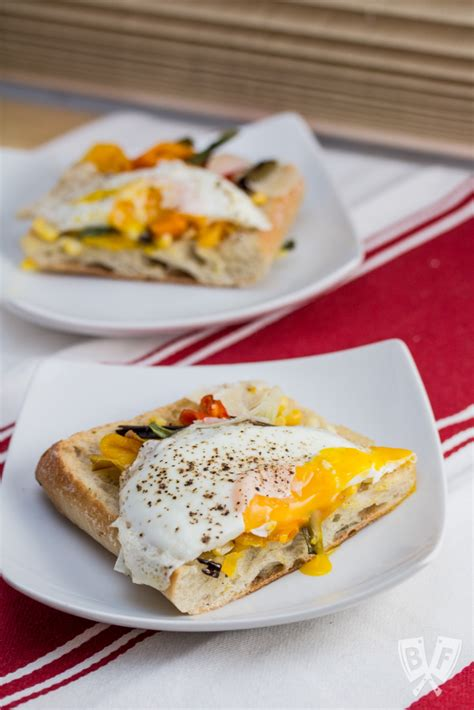 Want Ultracrisp Pizza Try Pan Frying It by Charred Veggie Ciabatta Pizza With Crispy Fried Eggs