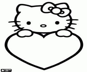 hello kitty coloring pages with hearts hello kitty coloring pages printable games