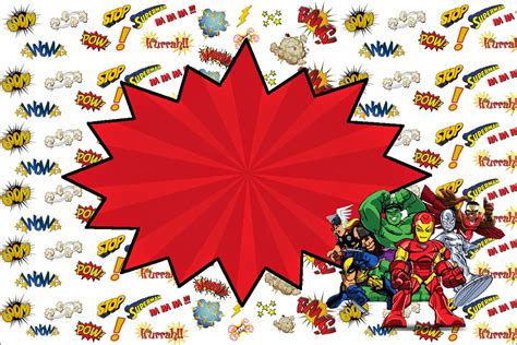 superhero birthday party invitations template best
