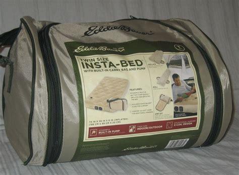 eddie bauer insta bed air mattress built in bag tq ebay
