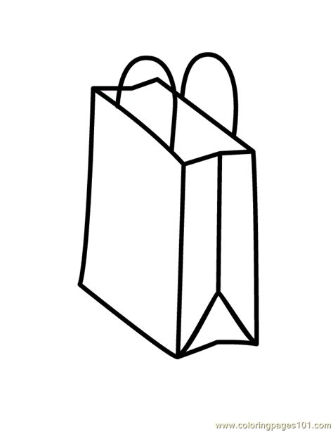 grocery bag coloring page bags coloring page free shopping coloring pages