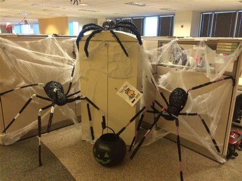 decorate halloween scary cubicle halloween decorating ideas the