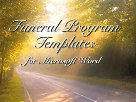 funeral program template funeral programs youtube