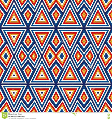 colorful ethnic wallpaper bright seamless pattern with symmetric geometric ornament