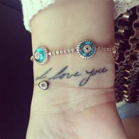 khloe kardashian tattoo wrist khloe inspired evil eye bracelet 22k gold