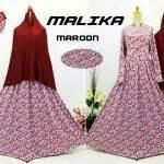 Gamis Syari Jumbo Mariana Maron Baju Muslim Wanita Gamis Busui gamis cantik murah b103 malika syar i baju muslim motif bunga