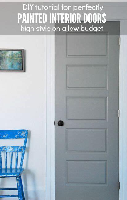 diy gray painted interior doors paint painted interior