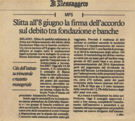 ultime notizie monte dei paschi mussari il santo notizie di siena pagina 4