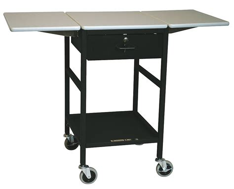 mobile work table adjustable mobile work table 200 lb load capacity ergo