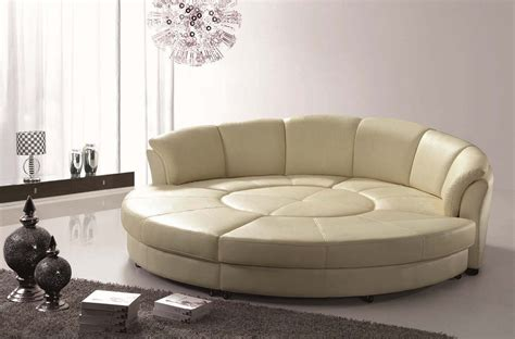 rounded couch sectional leather sofa bed with ottoman and stool round