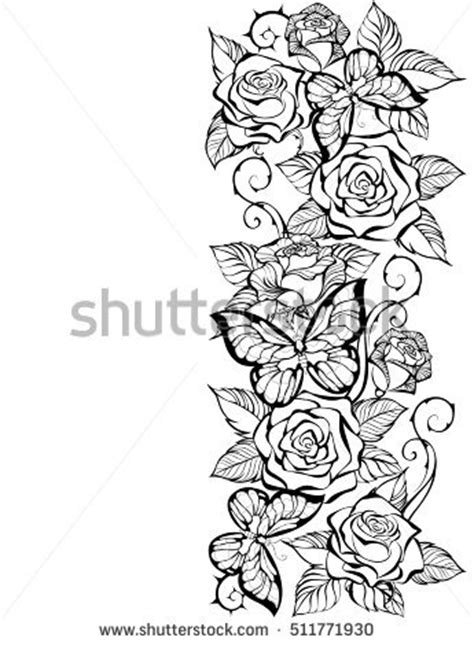 rose coloring pages border 89 rose coloring pages border rose flower leaves