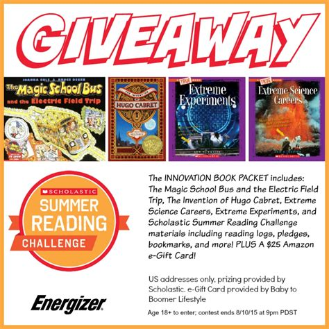 Scholastic Gift Card - scholastic summer reading fun with the energizer bunny