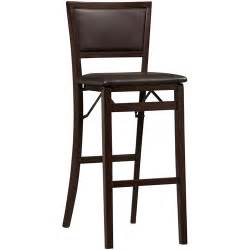 linon keira padded back folding bar stool 30 quot espresso